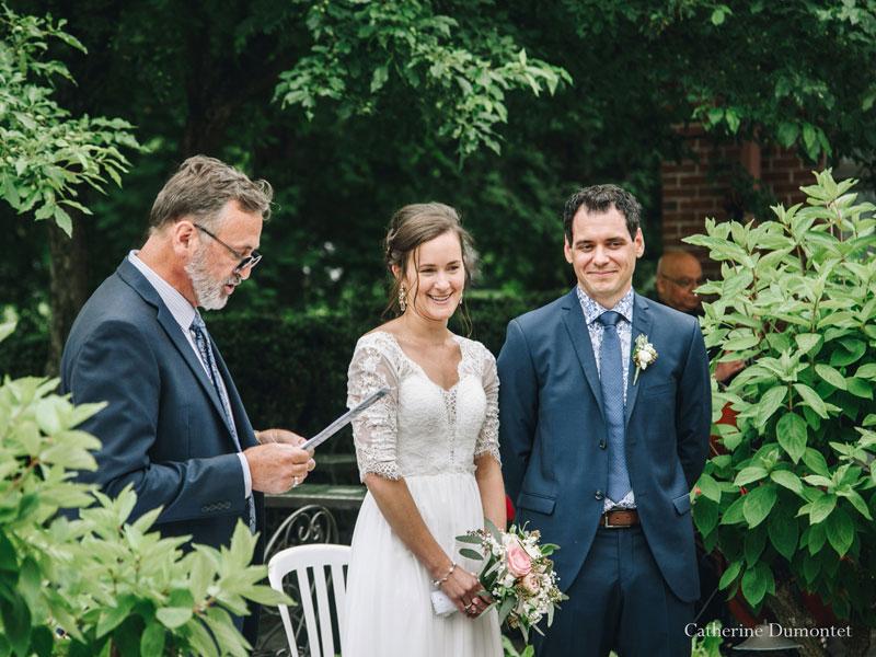 cérémonie de mariage au Manoir Rouville