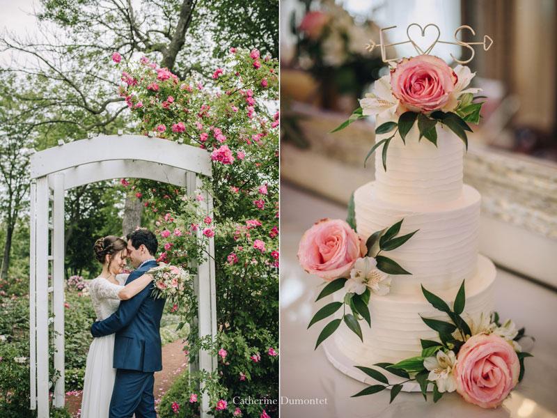 les mariés et le gâteau de mariage