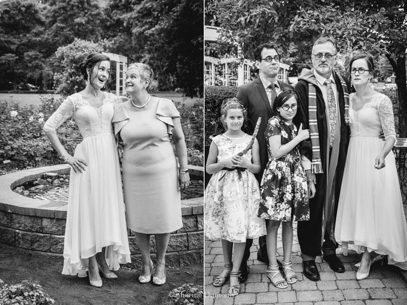 la famille de la mariée