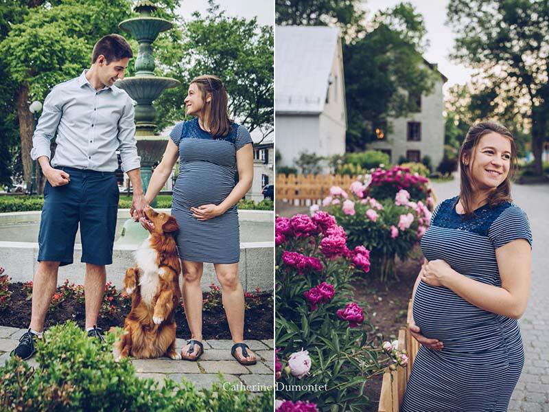 futurs parents à l'Île-des-Moulins de Terrebonne