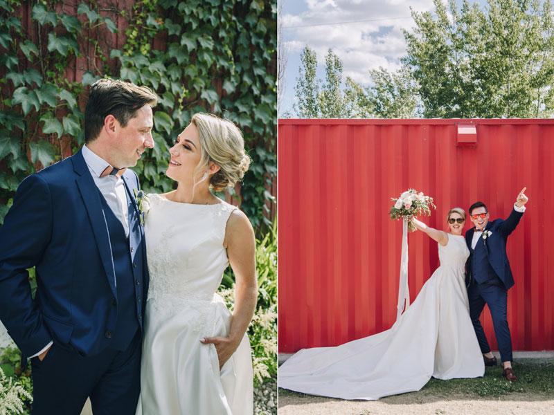 Les mariés dans le Vieux-Boucherville