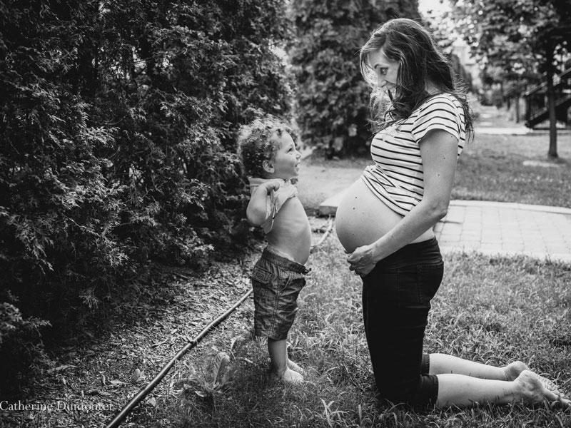 Photos de maternité avec enfant