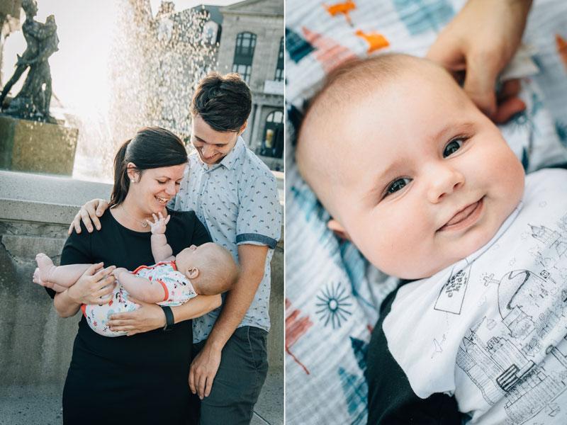 bébé de 5 mois avec parents
