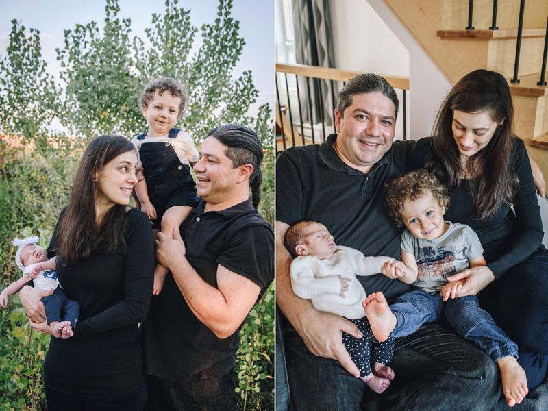 photos de famille avec nouveau-né