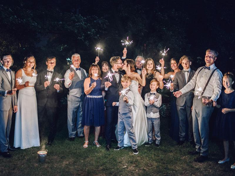 les familles des mariés