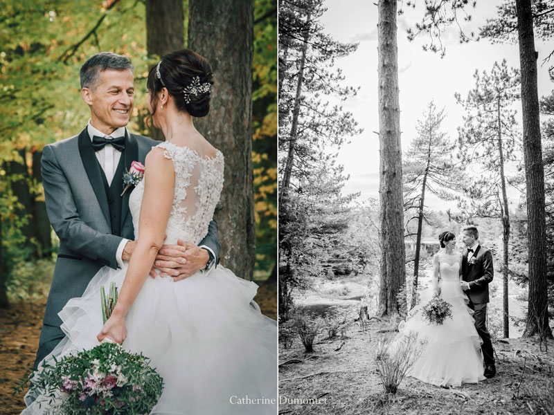 mariage en automne dans Lanaudière