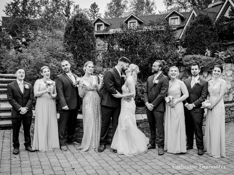 Bridal party at Hotel Mont Gabriel