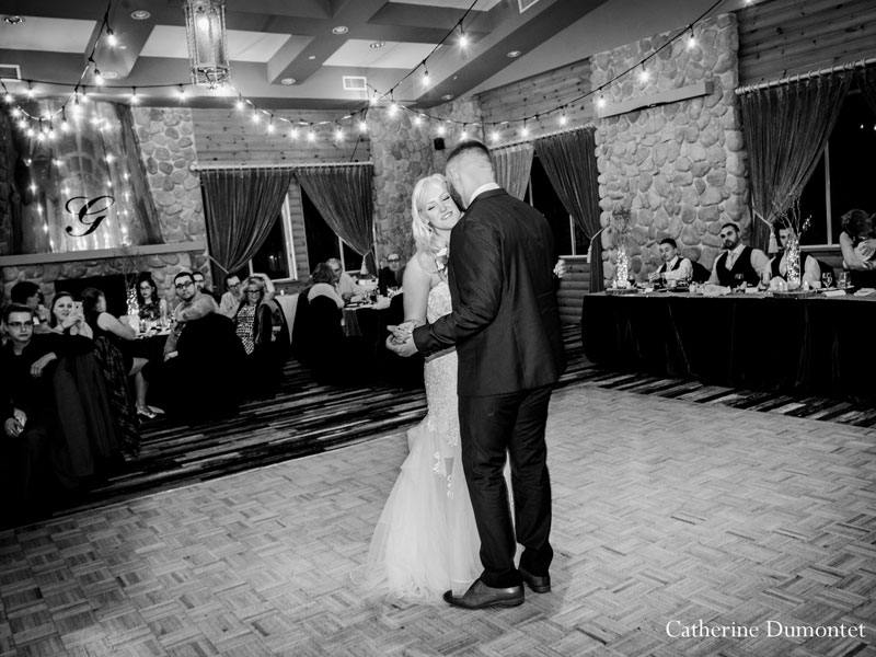 first dance at Hotel Mont Gabriel