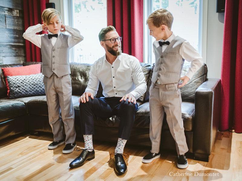 Préparation du marié à la maison