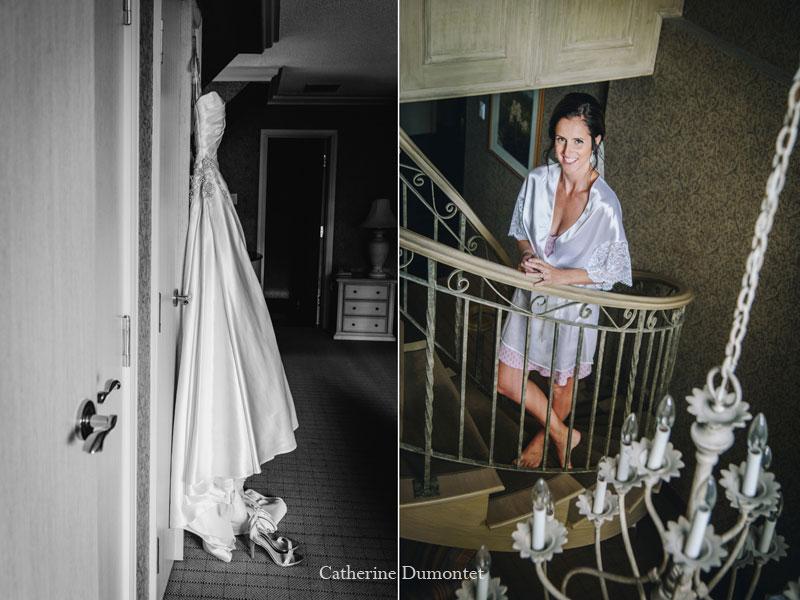 préparatifs de la mariée au Château Vaudreuil