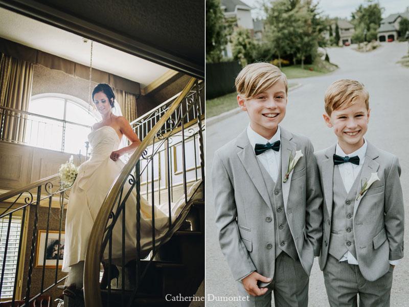 La mariée et ses garçons