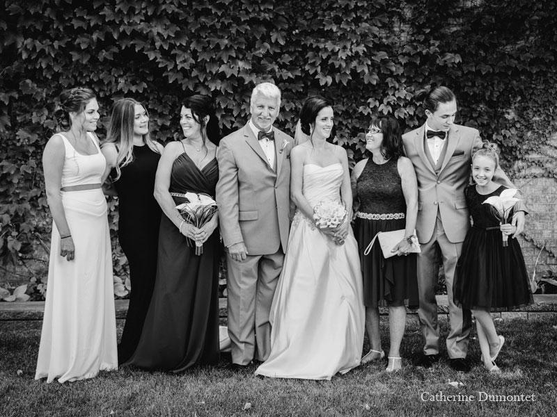 famille de la mariée au Château Vaudreuil