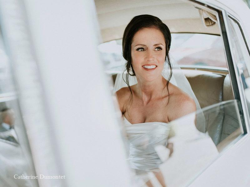 L'arrivée de la mariée en limousine