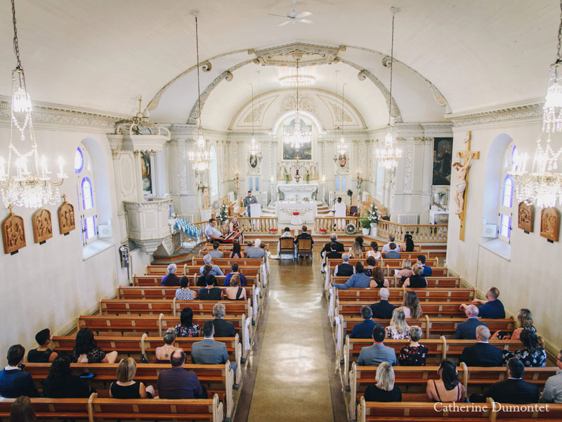 mariage à l'église Sainte-Jeanne-de-Chantal