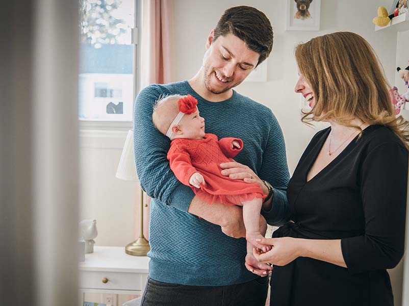 combo photos maternité et bébé