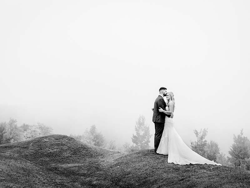 mariés au sommet du Mont-Gabriel