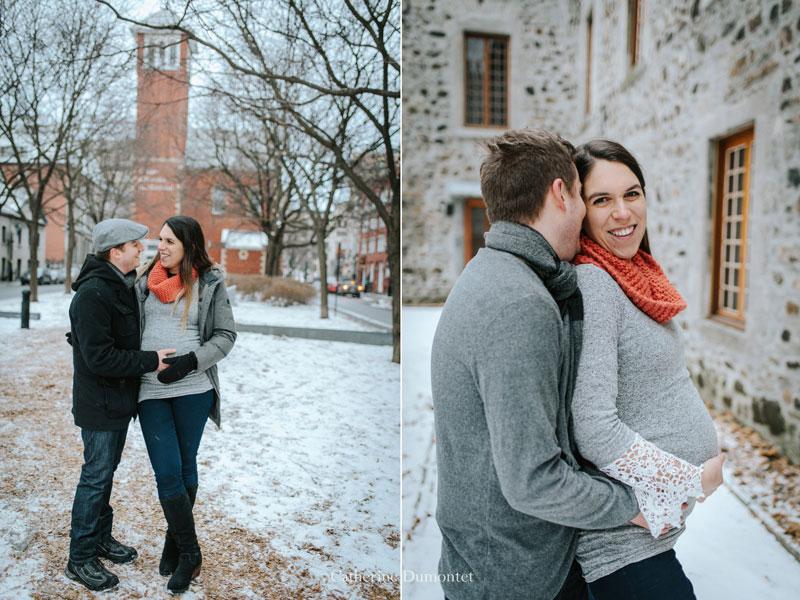 maternité en hiver dans le Vieux-Port