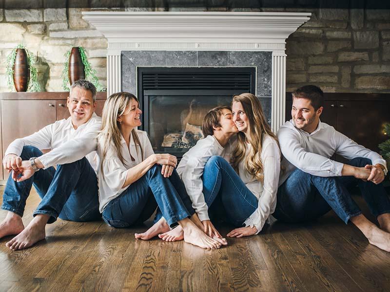 séance photo famille sur la rive-nord