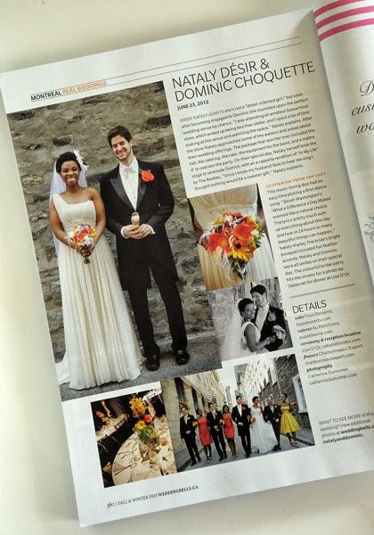 mariés dans la revue Weddingbells