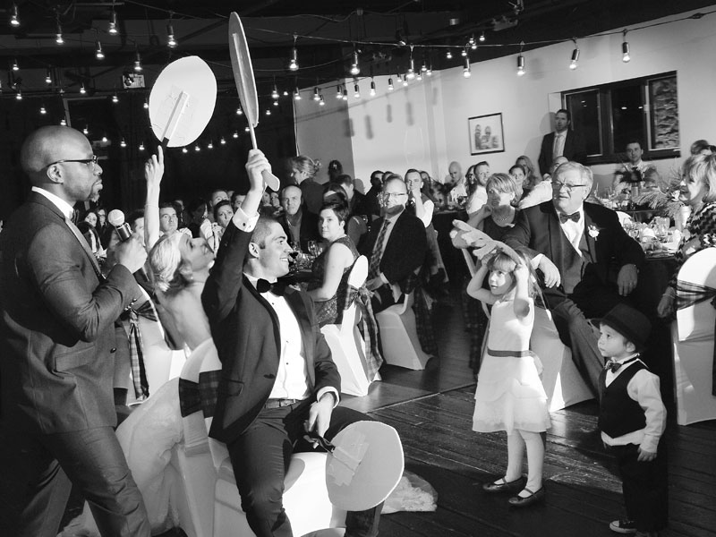 wedding game black and white picture