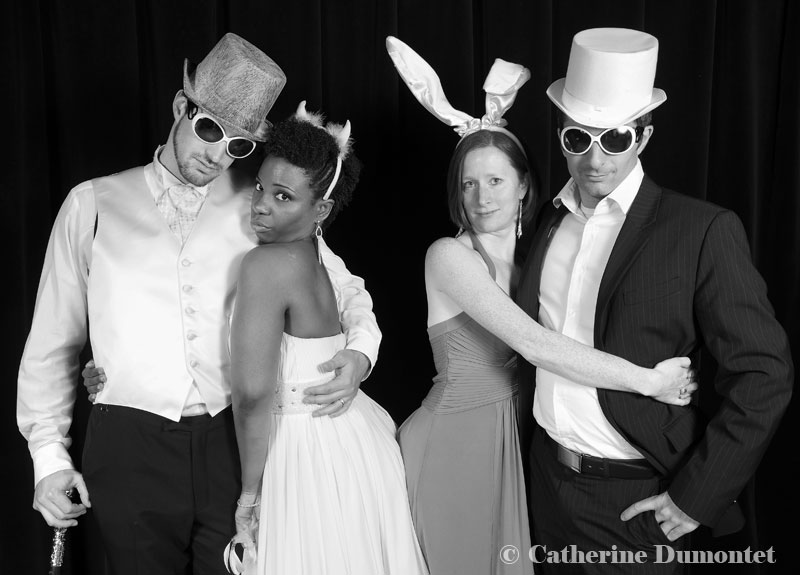 photobooth avec les mariés et amis