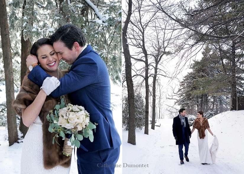 les mariés à l'extérieur de la Toundra, en hiver