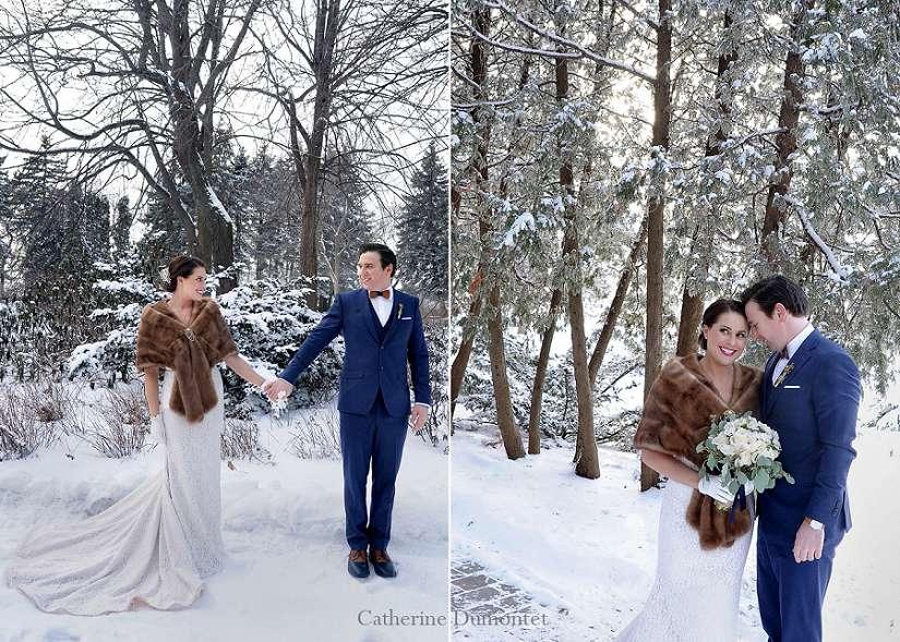 mariage en hiver au Parc Jean-Drapeau