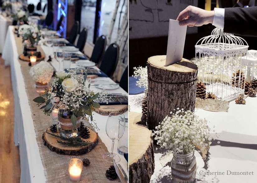 photos des décorations du mariage d'hiver