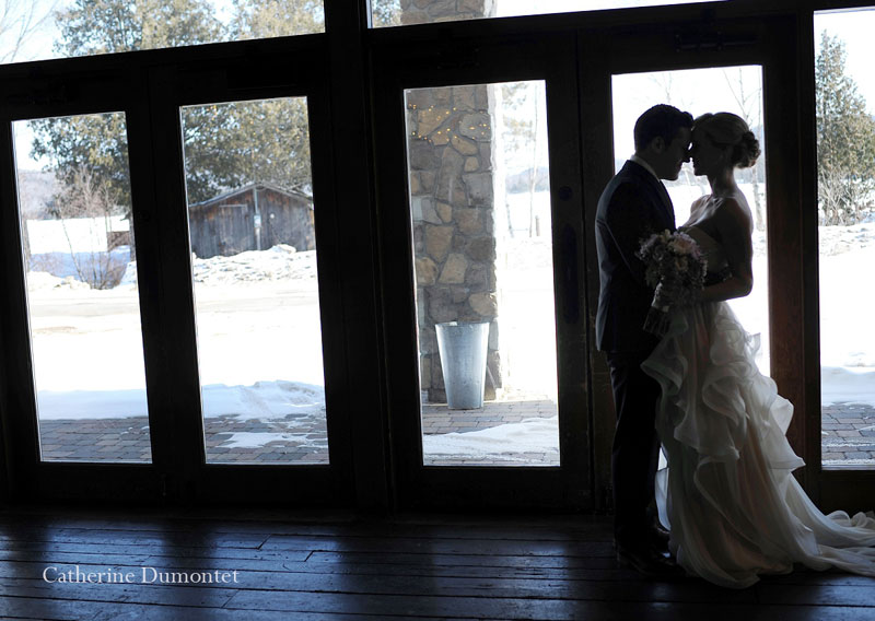 newlyweds during first look