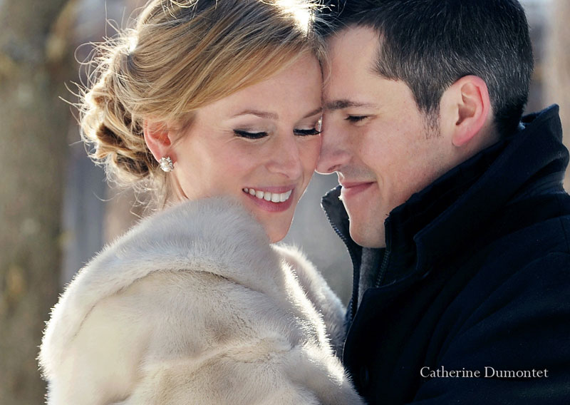 close-up of the newlyweds
