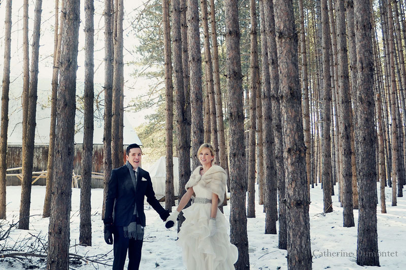 the lovers in Mont-Tremblant's woods