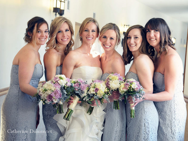 portrait of the bride and bridesmaids