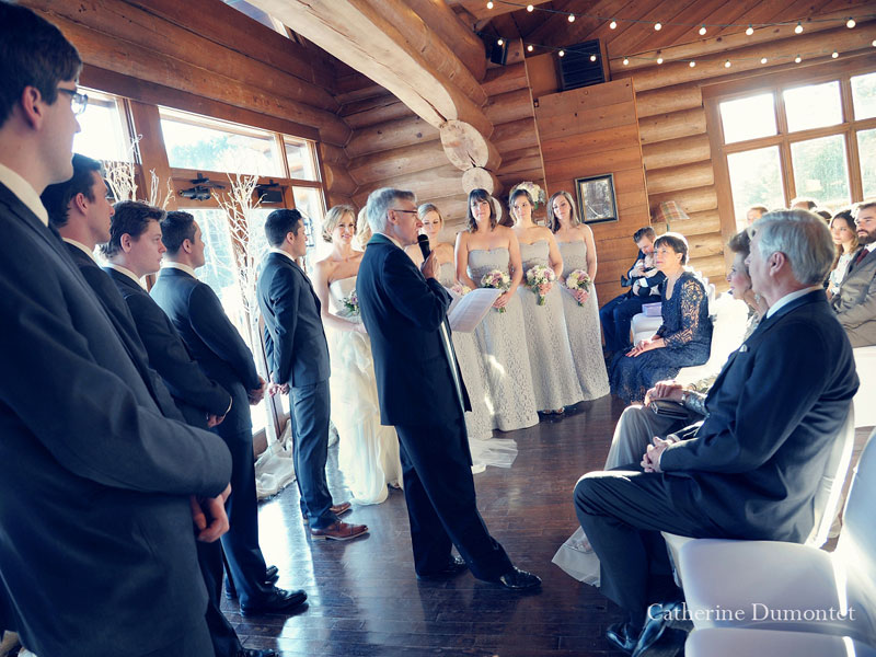 wedding ceremony at Borivage restaurant