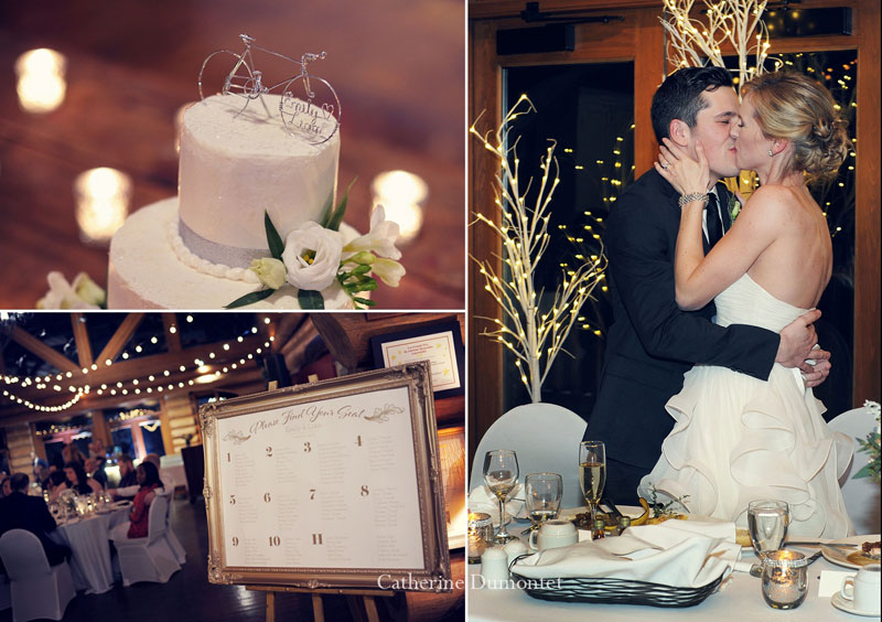 wedding details and the newlyweds kissing