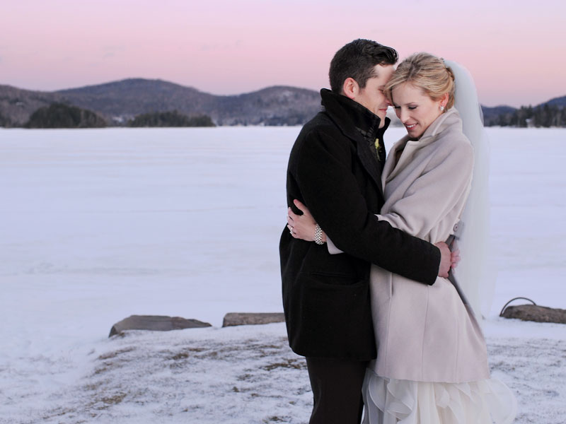 Winter wedding at the Grand Lodge Mont-Tremblant
