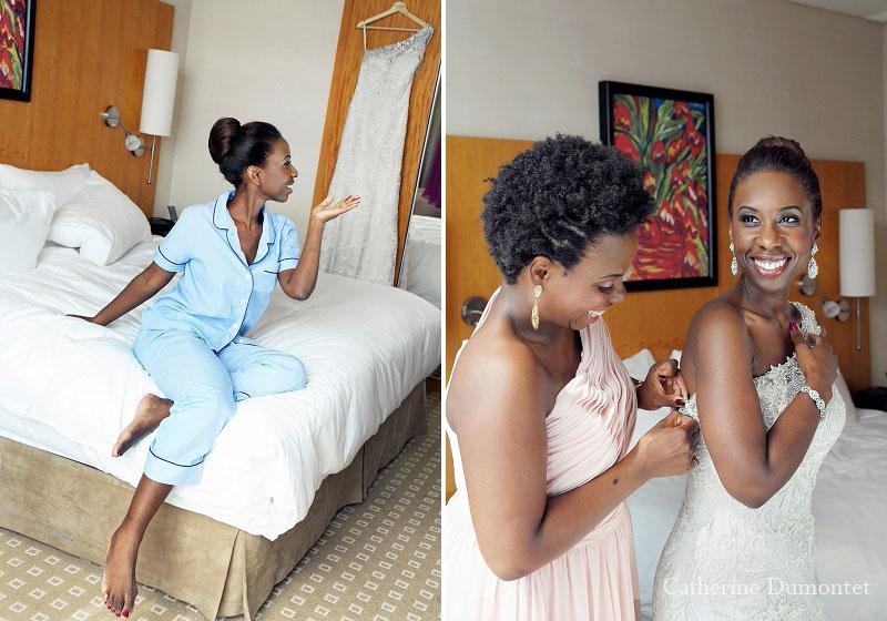 préparation de la mariée au Sofitel de Montréal