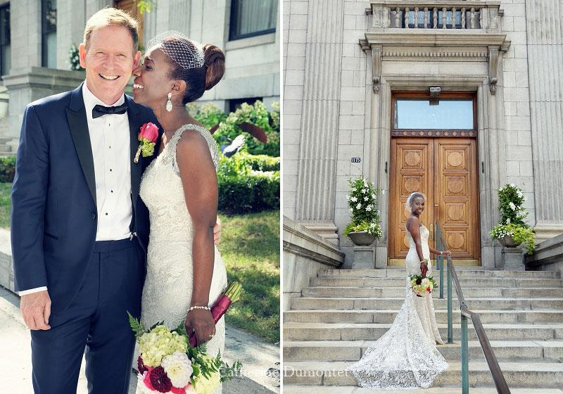 les mariés sur la rue Sherbrooke de Montréal