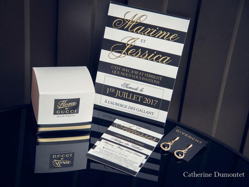 Invitation mariage Auberge des Gallant