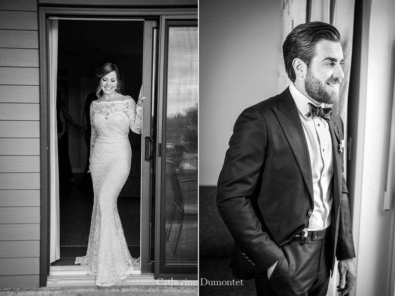 les mariés à l'Auberge des Gallant à Rigaud