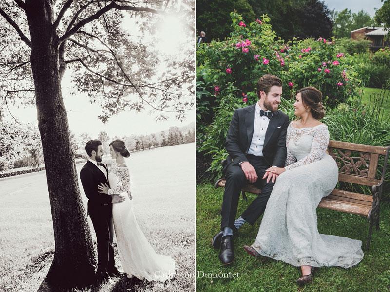 les mariés à l'Auberge des Gallant