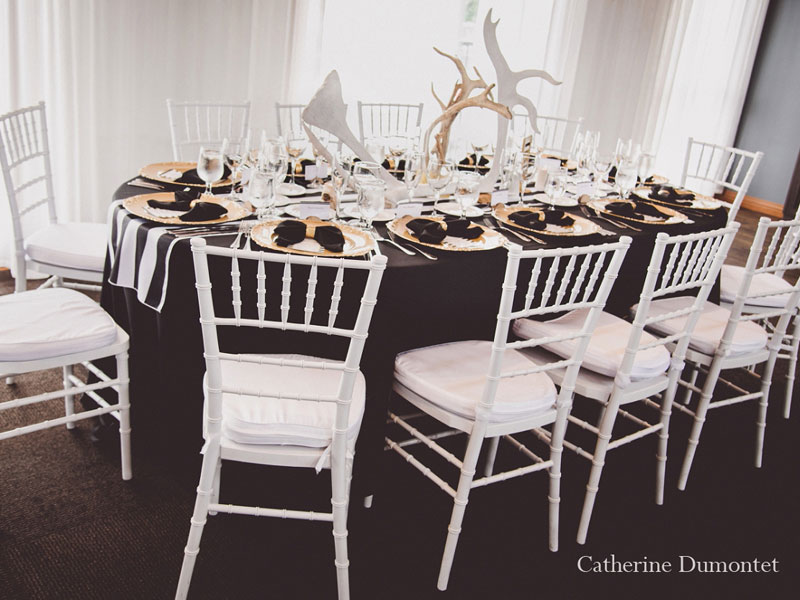 décorations de mariage à l'Auberge des Gallant