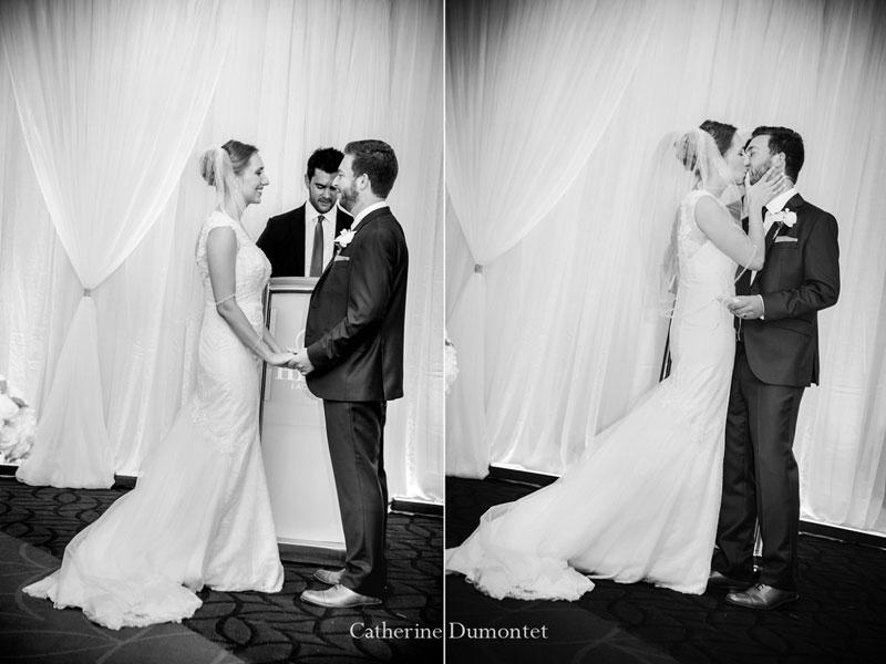 cérémonie de mariage au Hilton Lac-Leamy