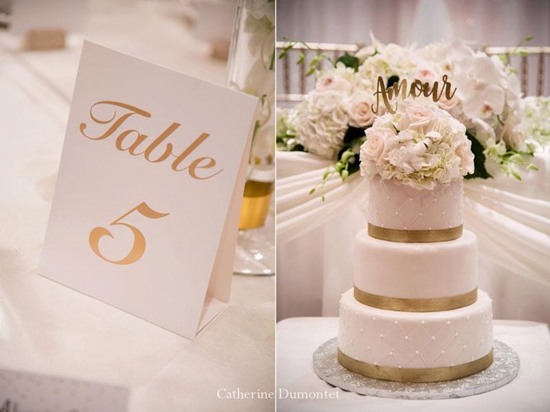 Décorations mariage au Hilton Lac-Leamy