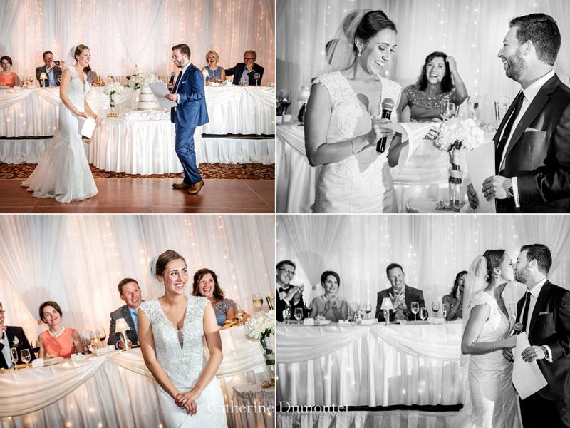Discours des mariés au Hilton du Lac-Leamy