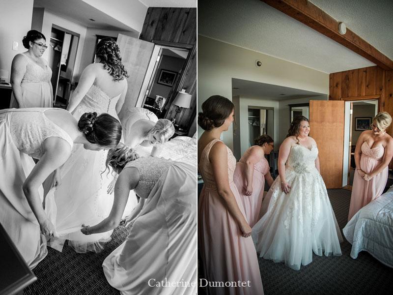 Préparation de la mariée au Mont-Gabriel