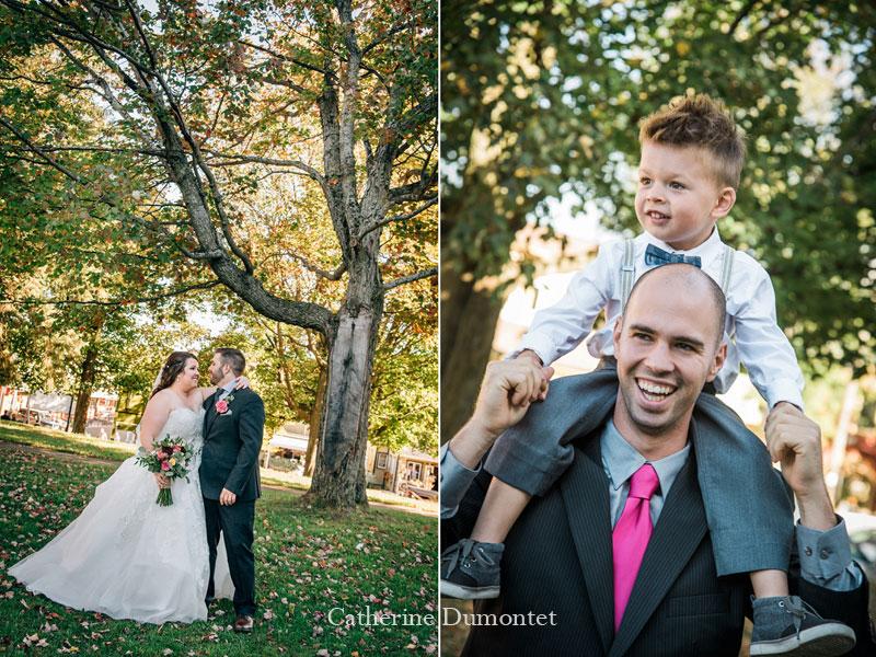 Les mariés à l'Église St-Sauveur