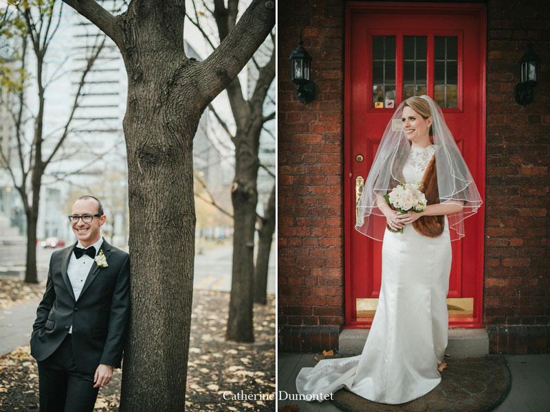 Portraits des futurs mariés