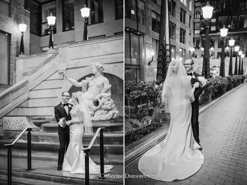 Les mariés au Centre de Commerce Mondial
