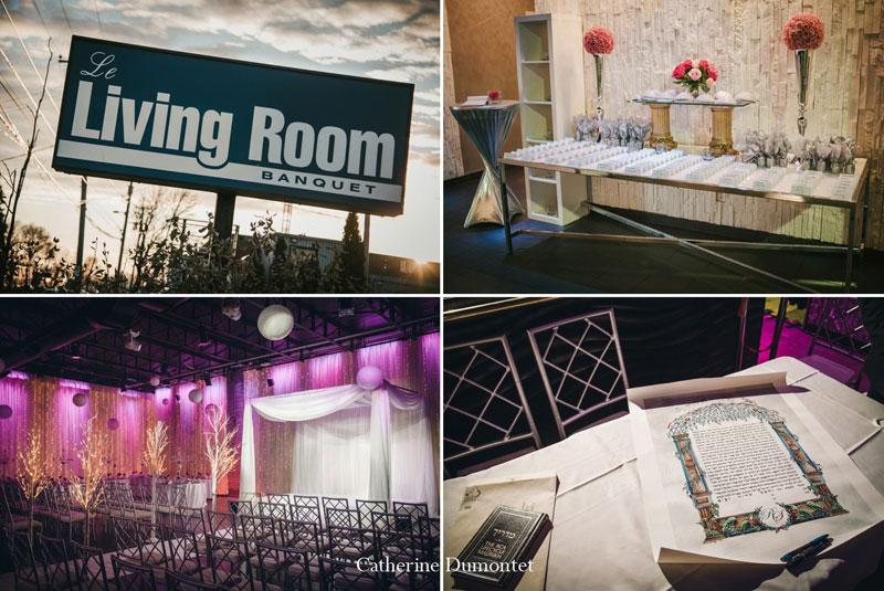 Décor de mariage au Living Room de Montreal