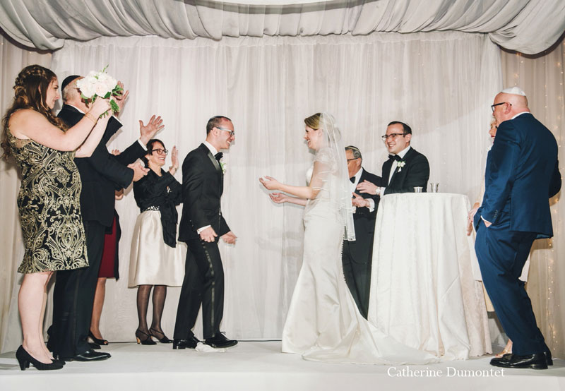 mariage juif au Living Room de Montréal